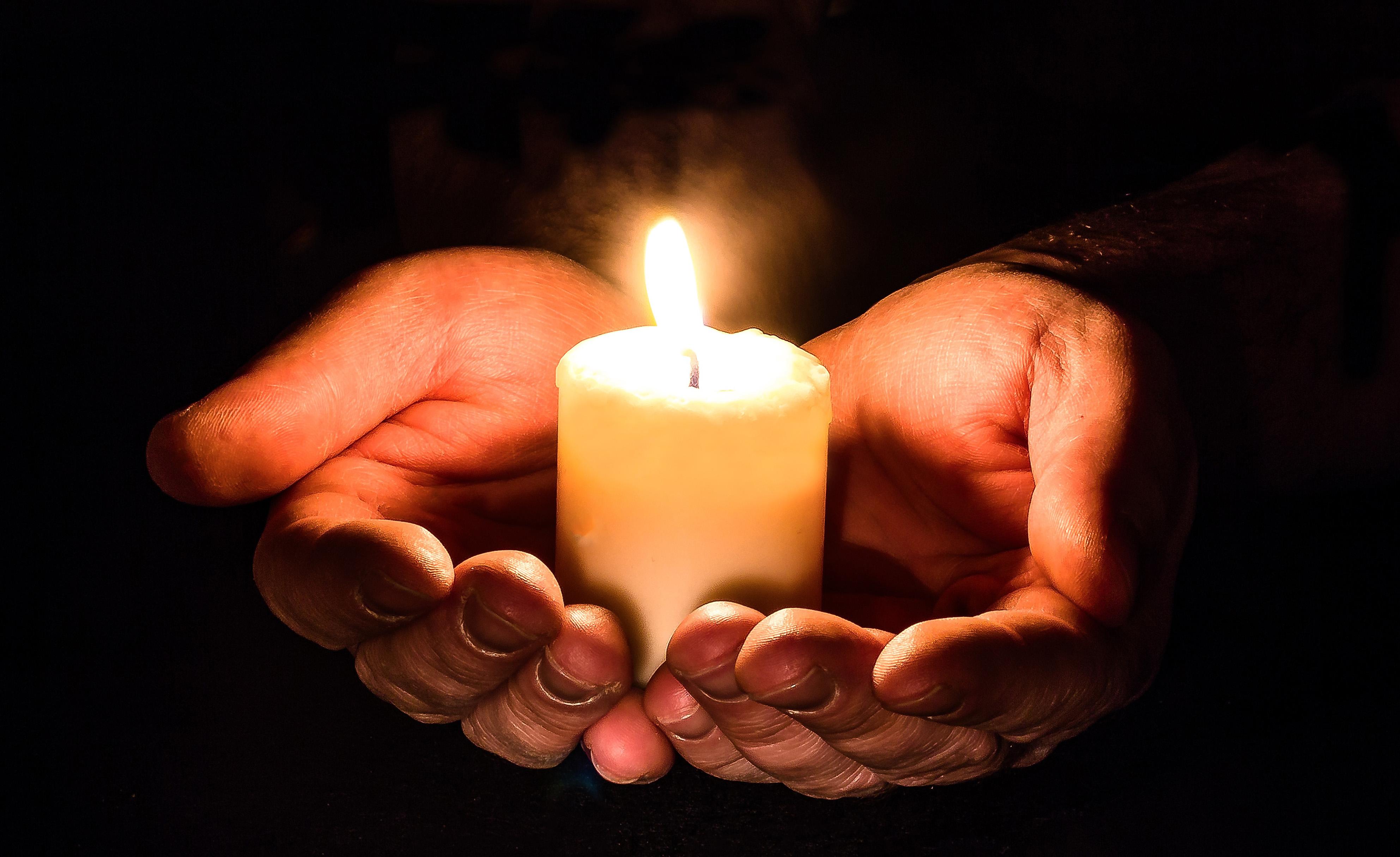 Hoffnung Kerze